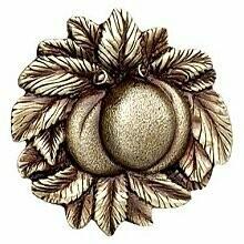 Notting Hill Cabinet Knob Georgia Peach Antique Brass 1-5/8