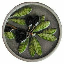 Notting Hill Cabinet Knob Olive Branch Pewter Hand Tinted 1-5/16
