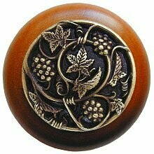 Notting Hill Cabinet Knob Grapevines/Cherry Antique Brass 1-1/2