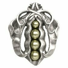 Notting Hill Cabinet Knob Pearly Peapod Antique Pewter 1-5/8