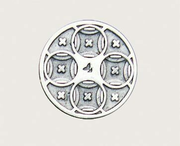 Emenee Decorative Cabinet Hardware Mission Knob Circles 1-3/8