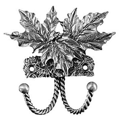 Sierra Lifestyles / Big Sky Cabinet Hardware Decorative Hook - Maple Leaf - Pewter