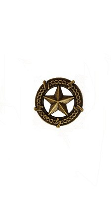 Buck Snort Lodge Decorative Hardware Cabinet Knobs and Pulls Star with Barbed Wire