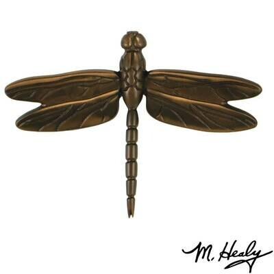 Michael Healy Designs Dragonfly in Flight Door Knocker - Oiled Bronze- Standard