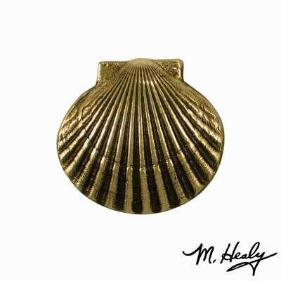 Michael Healy Designs Bay Scallop Doorbell Ringer Brass