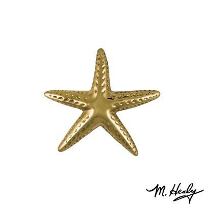 Michael Healy Designs Starfish Door Knocker - Brass-Standard