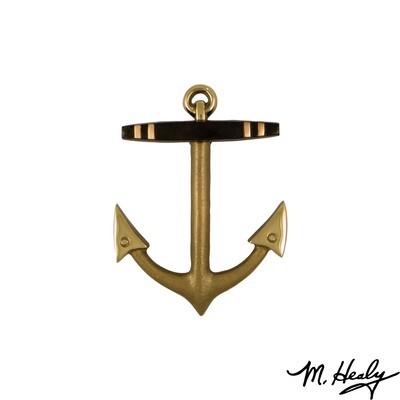 Michael Healy Designs Anchor Door Knocker - Brass- Standard