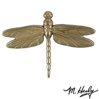 Michael Healy Designs Dragonfly in Flight Door Knocker - Nickel Silver-Standard