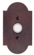 Emtek Door Hardware Sandcast Bronze Door Bell with Plate and Button # 1 Rosette