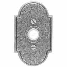 Emtek Door Hardware Wrought Steel   Door Bell with Plate and Button # 1 Rosette
