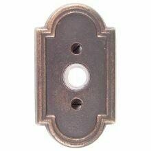 Emtek Door Hardware Tuscany Bronze Door Bell with Plate and Button # 11 Rosette