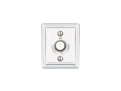 Emtek Door Hardware Brass Door Bell with Plate and Button Wilshire Rosette