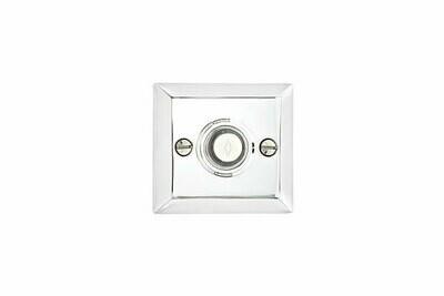 Emtek Door Hardware Brass Door Bell with Plate and Button Quincy Rosette