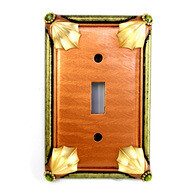 Susan Goldstick Cleo Amber Single Toggle Switch Plate