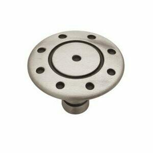 Liberty Hardware Round Flat Ring & Dot Cabinet Knob