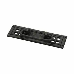 Liberty Hardware 124mm Horizontal Cabinet Bail Pull with Backplate