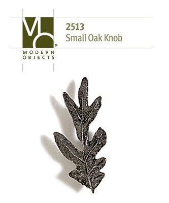 Modern Objects Designer Hardware Small Oak Leaf Cabinet Knob