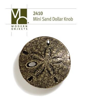 Modern Objects Designer Hardware Mini Sand Dollar Cabinet Knob