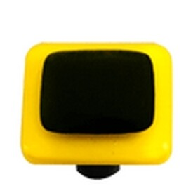 Hot Knobs Glass Cabinet Knob Sunflower Yellow Border Collection Black