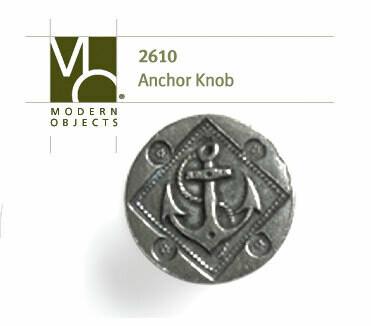 Modern Objects Designer Hardware Round Anchor Knob