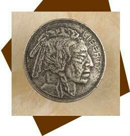 Anne At Home Indian Head Nickel Cabinet Knob