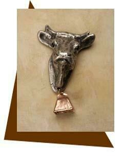 Anne at Home Cow with Bell Cabinet Knob