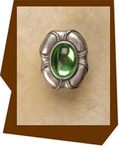 Anne At Home  Philippe Insert Cabinet Knob with Peridot