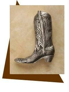 Anne At Home Cowboy Boot Cabinet Knob-Medium-Left