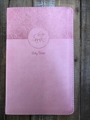 Baby Pink Keepsake Bible