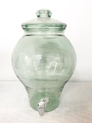 Drink Dispenser - Glass- Teal Green