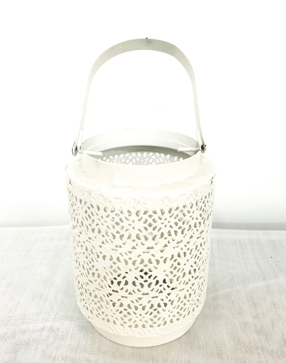 White with Pattern Lantern