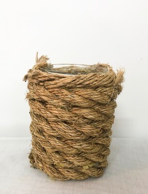 Glass Vase Wrapped in Rope 6