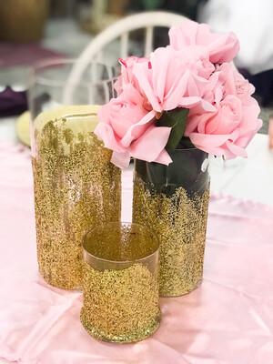 Cylinder Vase - Gold 10