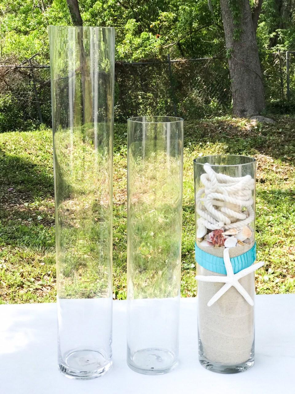"Glass Cylinder Vase 19.5"" Tall"