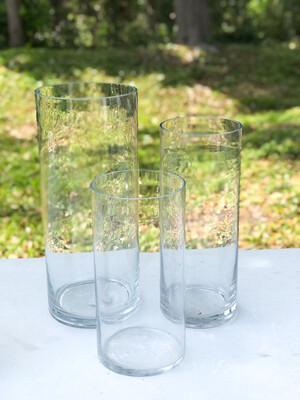 "Glass Cylinder Vase 12"" Tall"