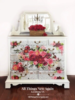 Furniture: Royal Rose Dresser with Mirror