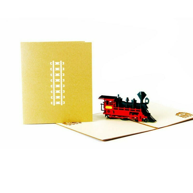 Pop Up Steam Express Train Card
