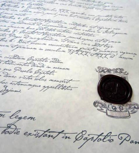 Starving Games Treaty of Treason Prop Replica