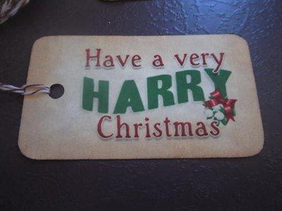 Wizarding Christmas Gift Tags  (10)