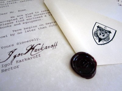 Wizarding Acceptance Letter (Scandinavian School)