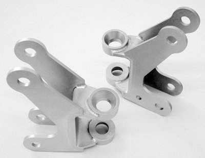 Axle bracket kit, front four link