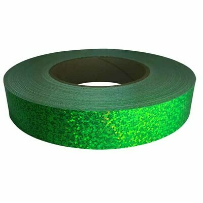 Holographic Sequin Tape, Fluorescent Green