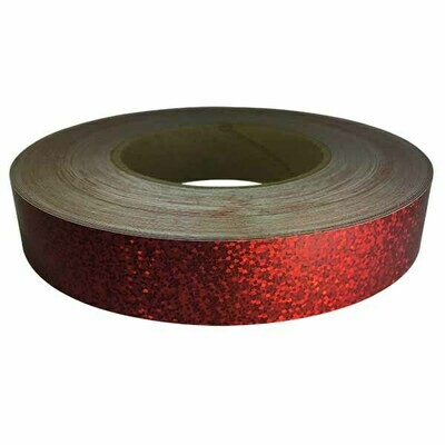 Holographic Sequin Tape, Cherry Red