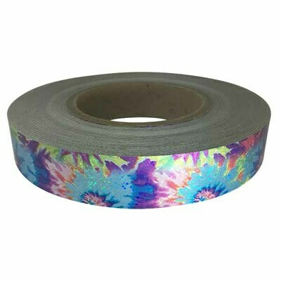 Holographic Sequin Tape, Tie Dye Blue-Light Blue