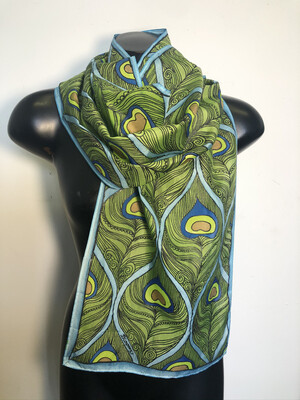 Peacock Stylized Feather Scarf