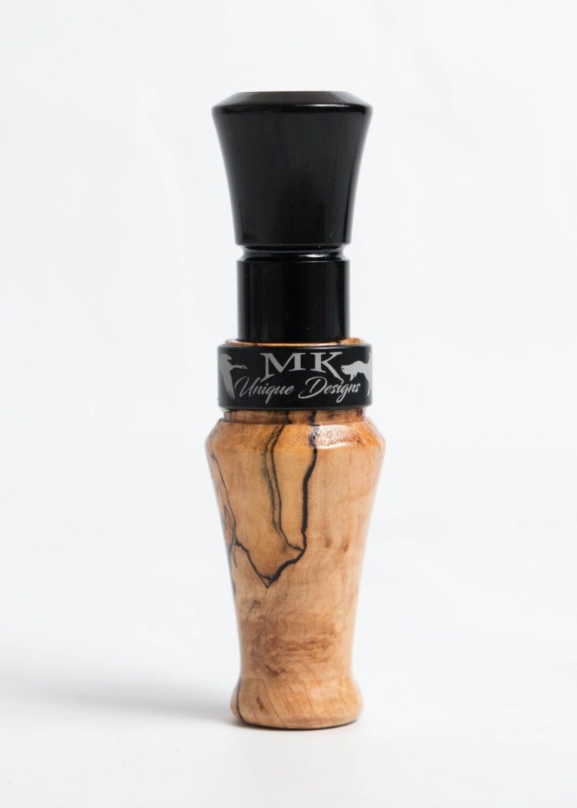 Canada Goose Call Spalted Maple Short Reed Easy Tune Guts