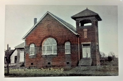 Cumberland Presbyterian Church in Sturgis, Kentucky Post Card