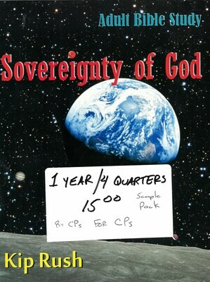 CP Curriculum Multi-Pack: Sovereignty of God, Toward Creation, Covenants With God, The Gift of Faith
