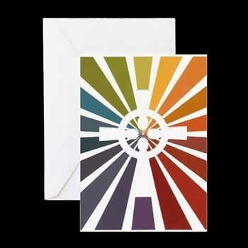 C P Logo Cross Note Card 5 X 7  with envelope - Ministry Council Colors
