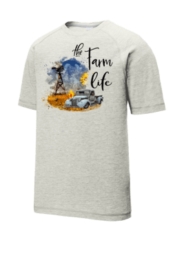 Farm Life/Windmill Tri-Blend Wicking Raglan Tee